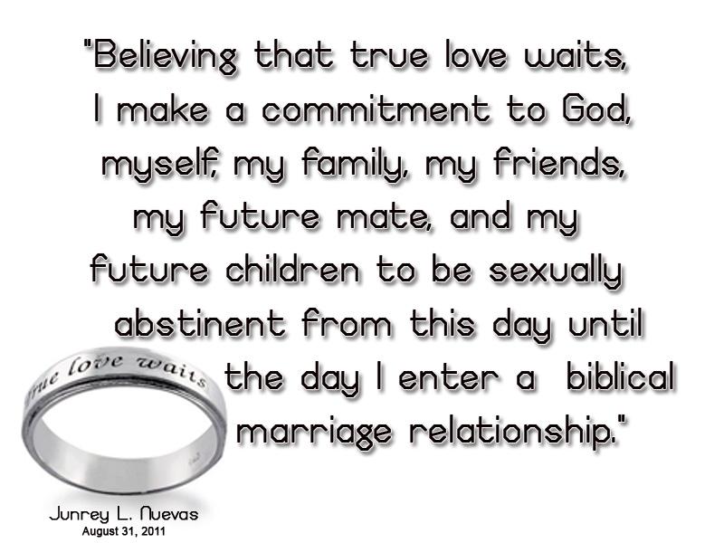 true love waits pledge
