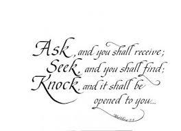 seek ask knock