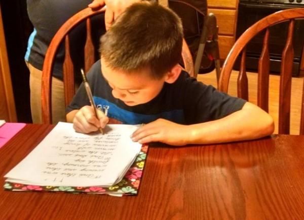 Josh copying Genesis.